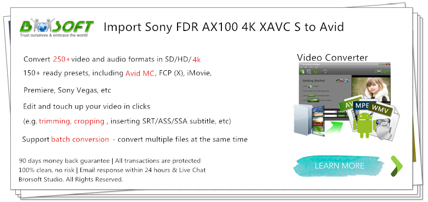 camcorder related issues solving sony fdr ax100 4k xavc s workflow
